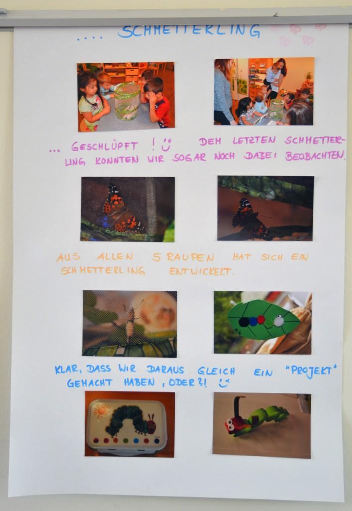 Schmetterlingsprojekt der Kita Flurspatz in Lurup,  1. Plakat