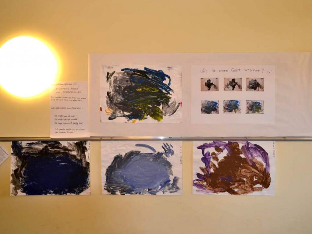 Flurspatz Begleitetes Malen Ausstellung