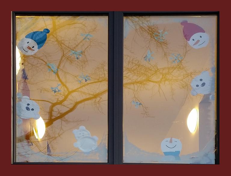 Foto eines Fensterbilds der Kita Flurspatz